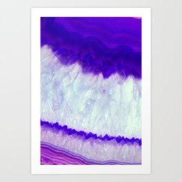 Agate indigo violet Art Print