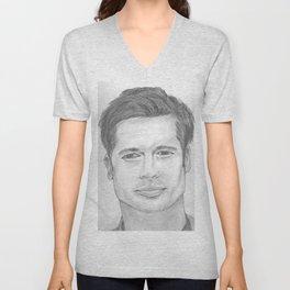 Brad Pitt Unisex V-Neck