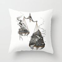 justice Throw Pillows featuring Justice by Mariya Olshevska