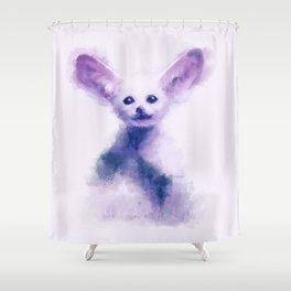 fennec foxy Shower Curtain