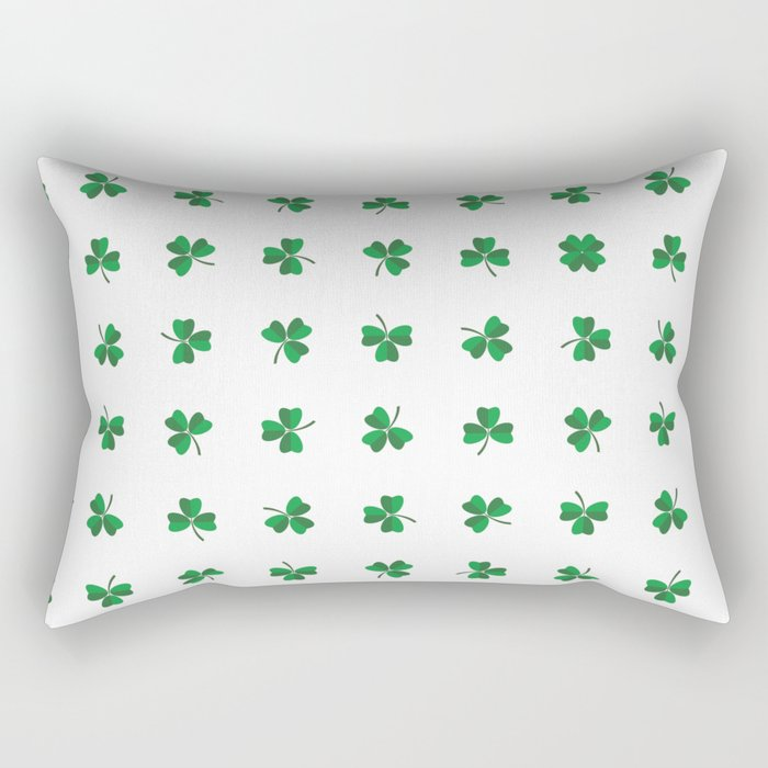 find a lucky clover! Rectangular Pillow