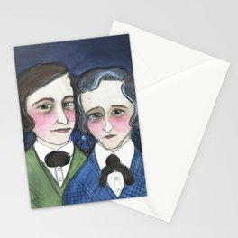 A Moonlit Tale of Grimm, Victorian Writers Portrait, The Brothers Grimm Portrait Stationery Cards