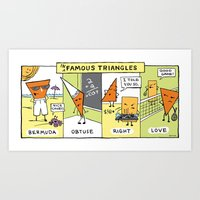 infamous Art Prints featuring The Daily Drawing Comic – Infamous Triangles by The Daily Drawing