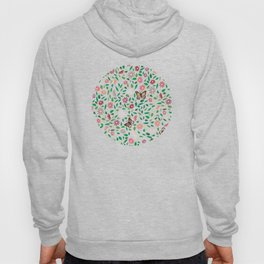 Blooms and Butterflies on Lapis Blue Hoody