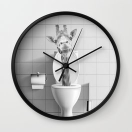 Giraffe in the Toilet Wall Clock