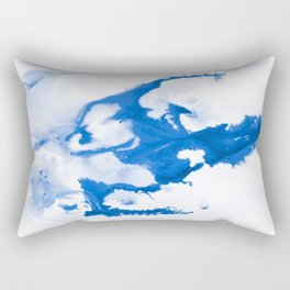 Paint 3 abstract modern art wall art for college dorm school trendy painting brushstrokes water wave Rectangular Pillow