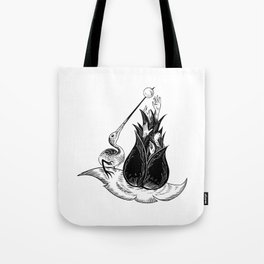 Ibis in the Garden of Earthly Delights Tote Bag