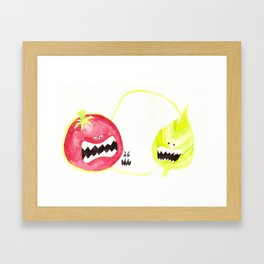 Attack of the Killer Caprese Framed Art Print