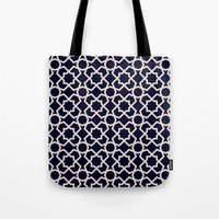 morocco Tote Bags featuring Morocco by Patterns and Textures