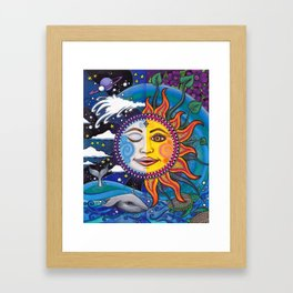Sun and Moon Art by Julie Oakes Framed Art Print