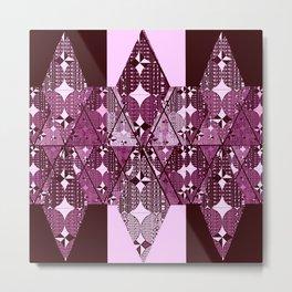 purple diamonds Metal Print