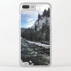 Snowy banks Clear iPhone Case
