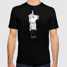 Pixel Unicorn Harry X-LARGE Mens Fitted Tee Black