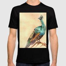 Peacock Mens Fitted Tee Black MEDIUM