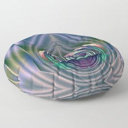 Fractal Teardrop Floor Pillow