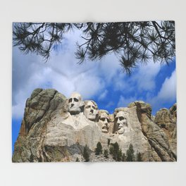 Mount Rushmore Throw Blanket