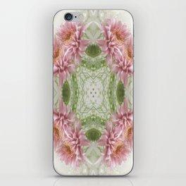 Pink Chrysanthemums Kaleidoscope Art 8 iPhone Skin