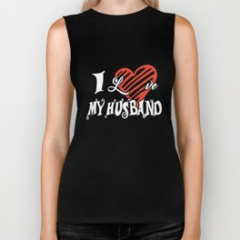 I love my husband wife t-shirts Biker Tank