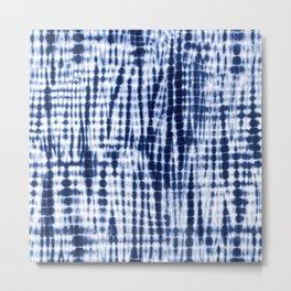 Shibori Tie Dye Pattern Metal Print