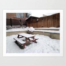 Snow Lunch Art Print