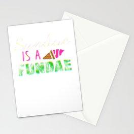 Sundae is a Fundae Colorful Stationery Cards