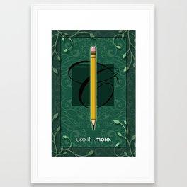 USE IT Framed Art Print