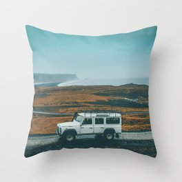 Defender on the Road Throw Pillow