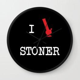 I Love Stoner Wall Clock