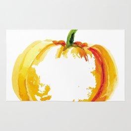 Thanksgiving Pumpkin Abstract Modern Art Rug