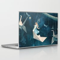 marianna Laptop & iPad Skins featuring My Favourite Swing Ride by Paula Belle Flores