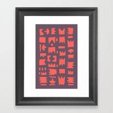 Pattern v6 Framed Art Print