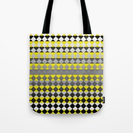 Lines and Squares Tote Bag