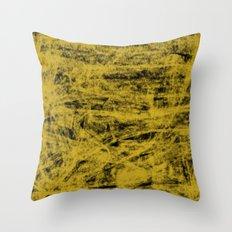 Yellow spirits on black Throw Pillow