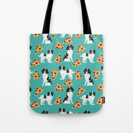 Japanese Chin cheery pizza slice junk food funny cute gifts for dog lover pet friendly pet protraits Tote Bag