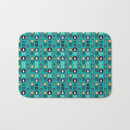 Christmas pattern in blue Bath Mat