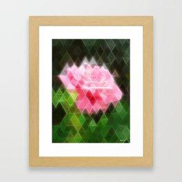 Pink Roses in Anzures 3 Art Triangles 2 Framed Art Print