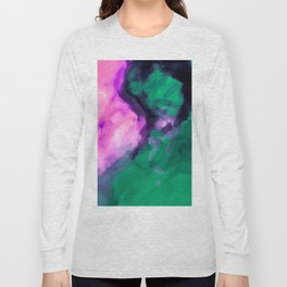 pink and green painting texture abstract background Long Sleeve T-shirt