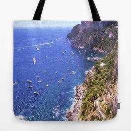 Mediterranean Of Boats Tote Bag