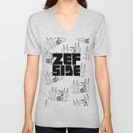 Zef Side Design Unisex V-Neck