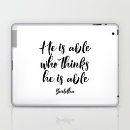 Buddha Quote, Motivational poster, Inspirational Quote Laptop & iPad Skin