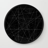 constellations Wall Clocks featuring Constellations by Dood_L