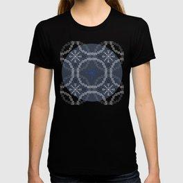 Stitched Bubbles Blue T-shirt