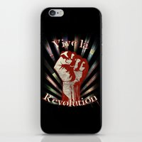revolution iPhone & iPod Skins featuring Revolution by PsychoBudgie