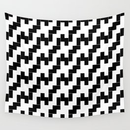 Symmetric patterns 139 black and white Wall Tapestry