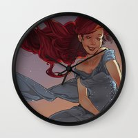 1989 Wall Clocks featuring NOUVEAU 1989 by Lettie Bug