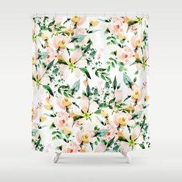 Flowered Shower Curtain