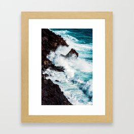 CONFRONTING THE STORM / Lanzarote, Spain Framed Art Print