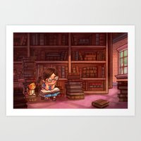 library Art Prints featuring Library by Dani Jones