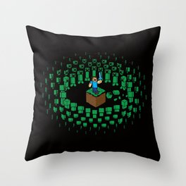 Zombie Mob Throw Pillow