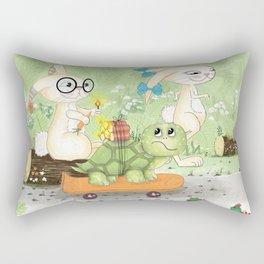 Fast as the rabbit Rectangular Pillow